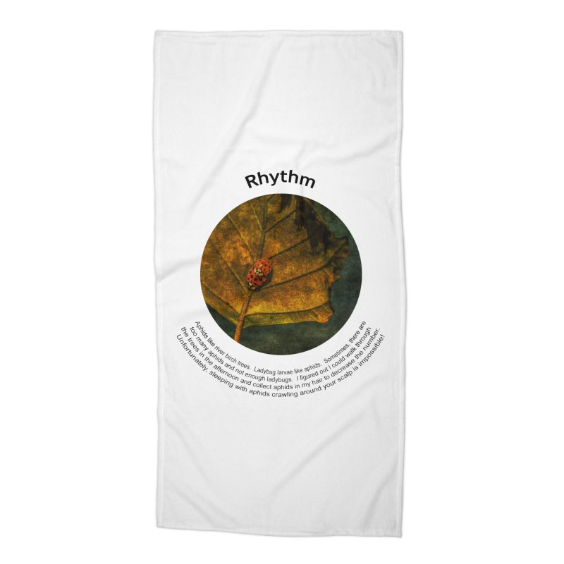 Rhythm Accessories Beach Towel by Hogwash's Artist Shop