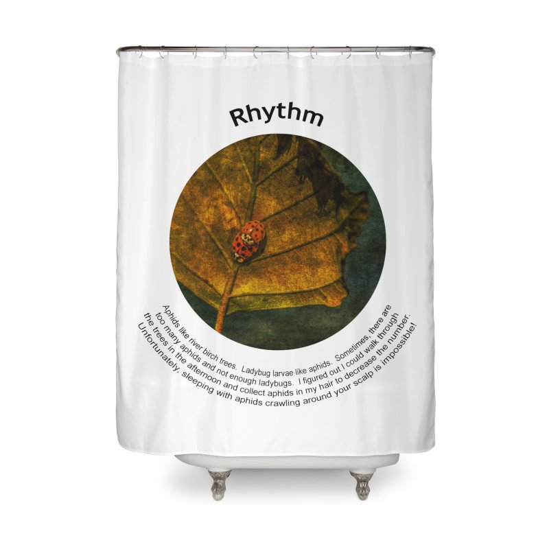 Rhythm Home Shower Curtain by Hogwash's Artist Shop