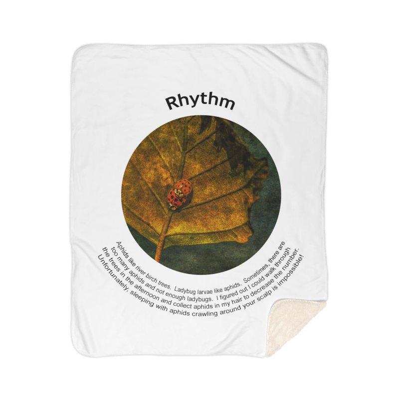 Rhythm Home Sherpa Blanket Blanket by Hogwash's Artist Shop