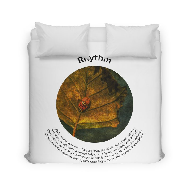 Rhythm Home Duvet by Hogwash's Artist Shop