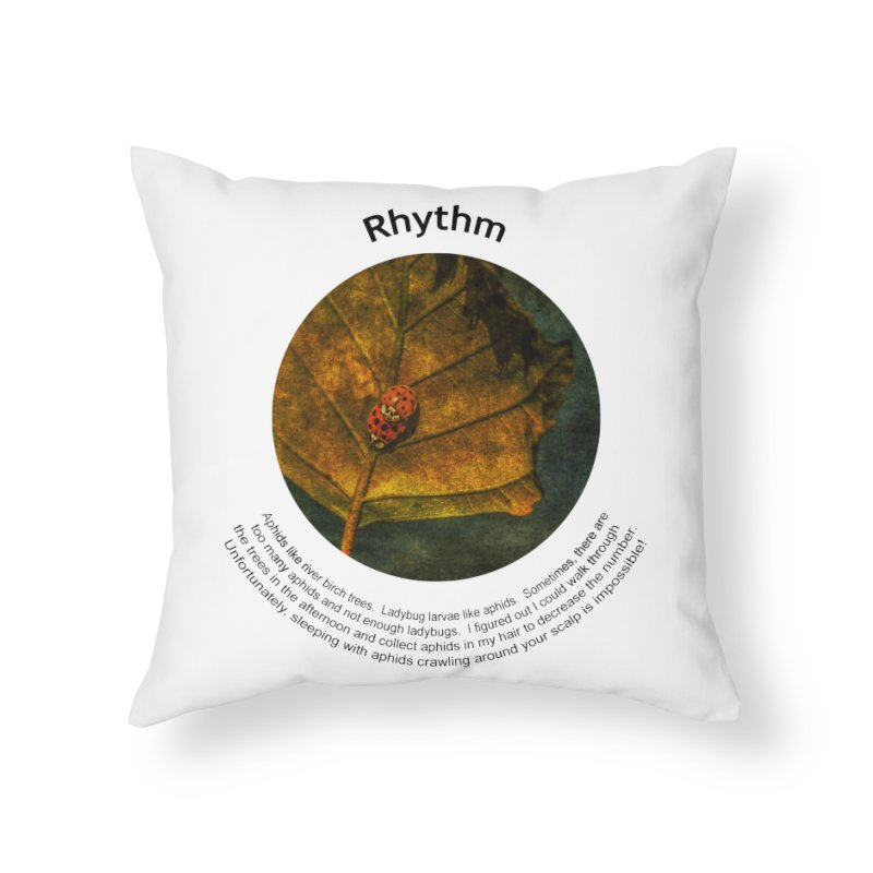 Rhythm Home Throw Pillow by Hogwash's Artist Shop