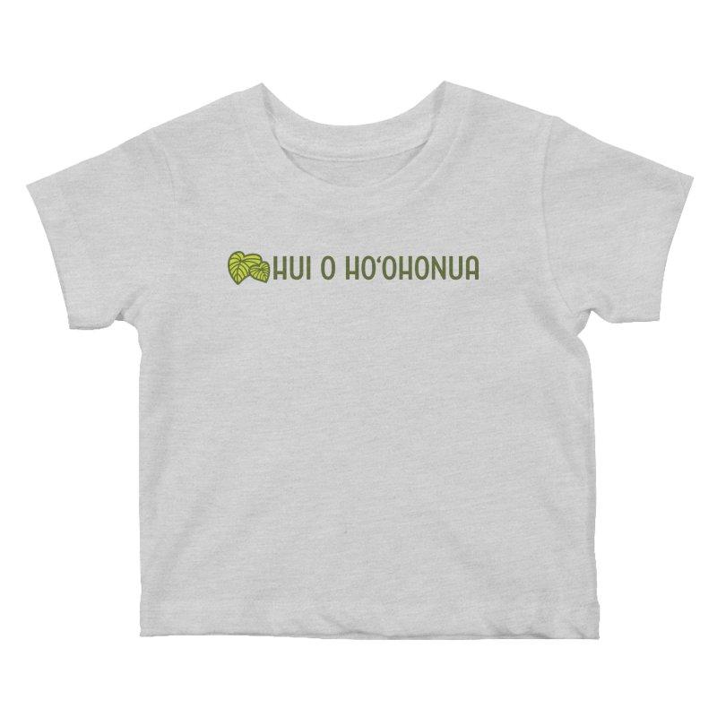 HOH808 Logo Gear Kids Baby T-Shirt by Hui o Ho`ohonua
