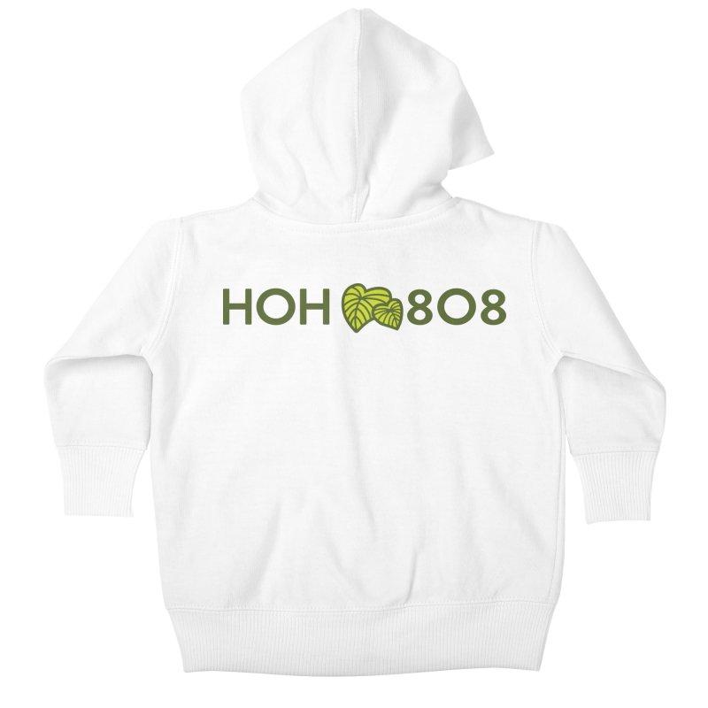 HOH808 Logo Gear Kids Baby Zip-Up Hoody by Hui o Ho`ohonua