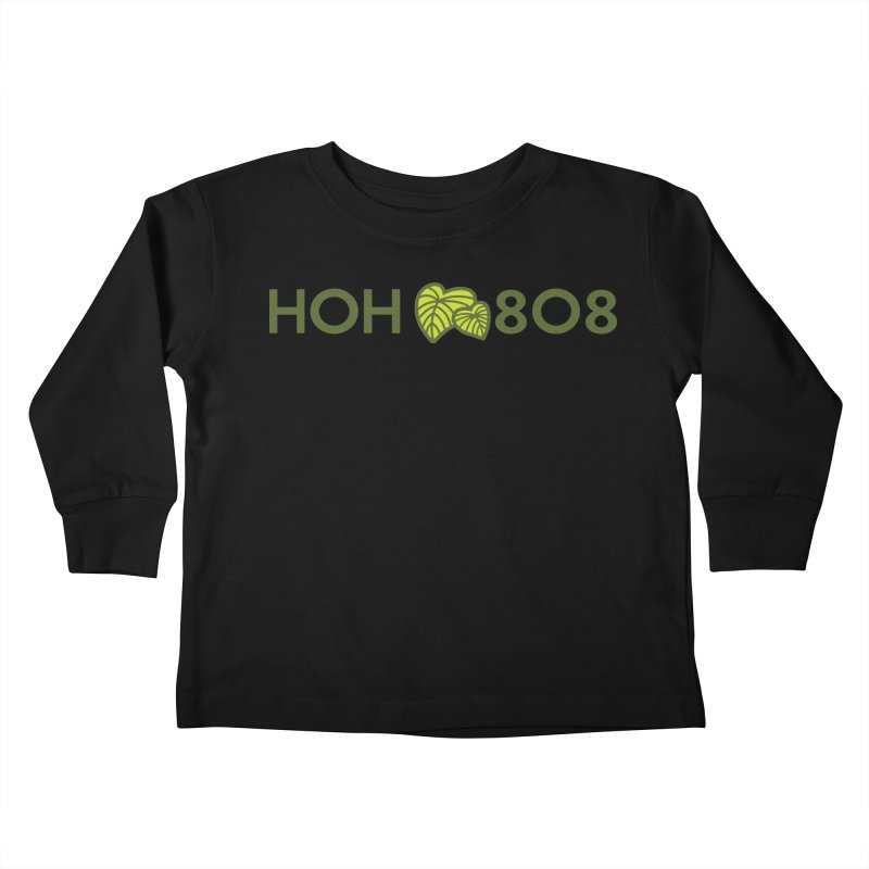 HOH808 Logo Gear Kids Toddler Longsleeve T-Shirt by Hui o Ho`ohonua