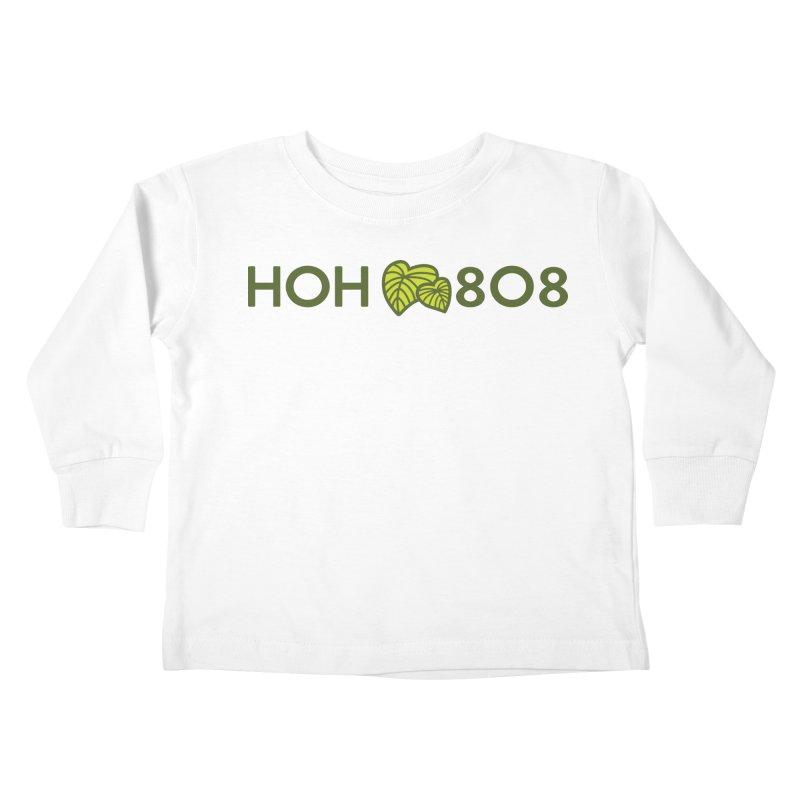 HOH808 Logo Gear Kids Toddler Longsleeve T-Shirt by Hui o Ho`ohonua