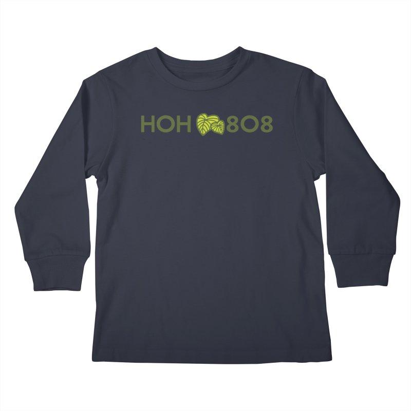 HOH808 Logo Gear Kids Longsleeve T-Shirt by Hui o Ho`ohonua