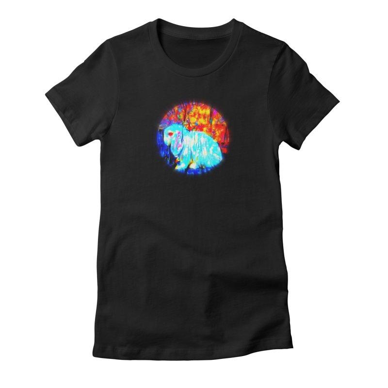 Rabbit Focus Women's T-Shirt by hollandlopartwork's Artist Shop