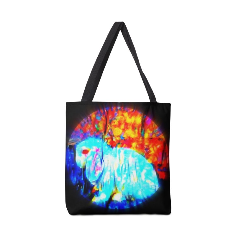 Rabbit Focus Accessories Tote Bag Bag by hollandlopartwork's Artist Shop