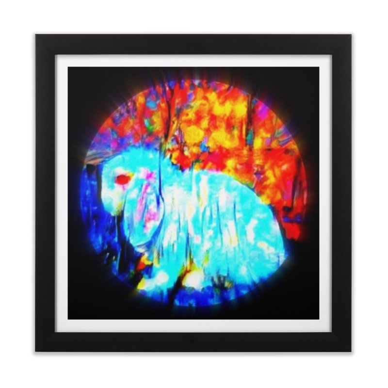 Rabbit Focus Home Framed Fine Art Print by hollandlopartwork's Artist Shop