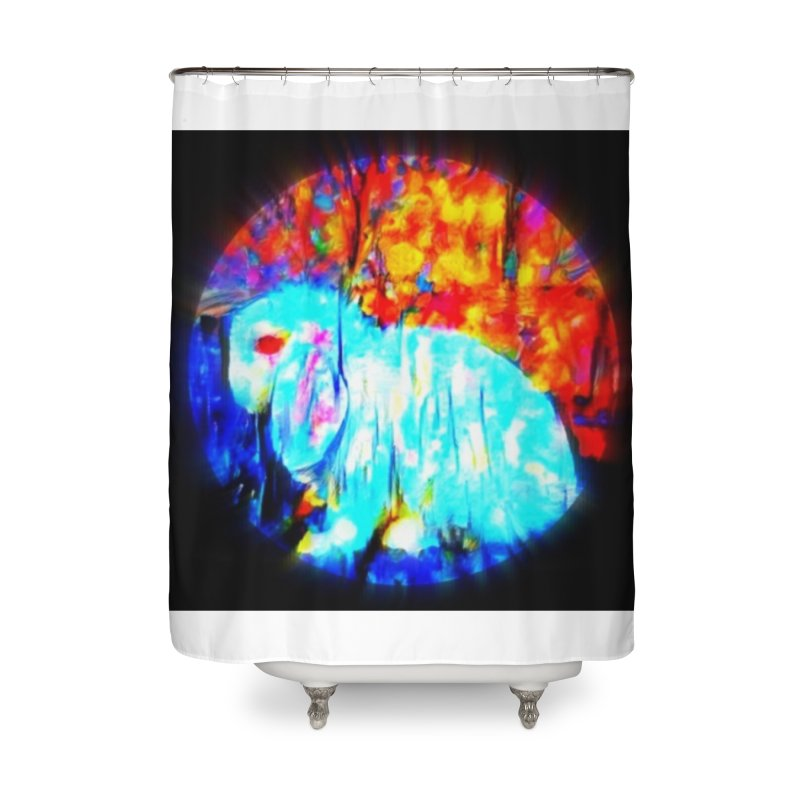 Rabbit Focus Home Shower Curtain by hollandlopartwork's Artist Shop
