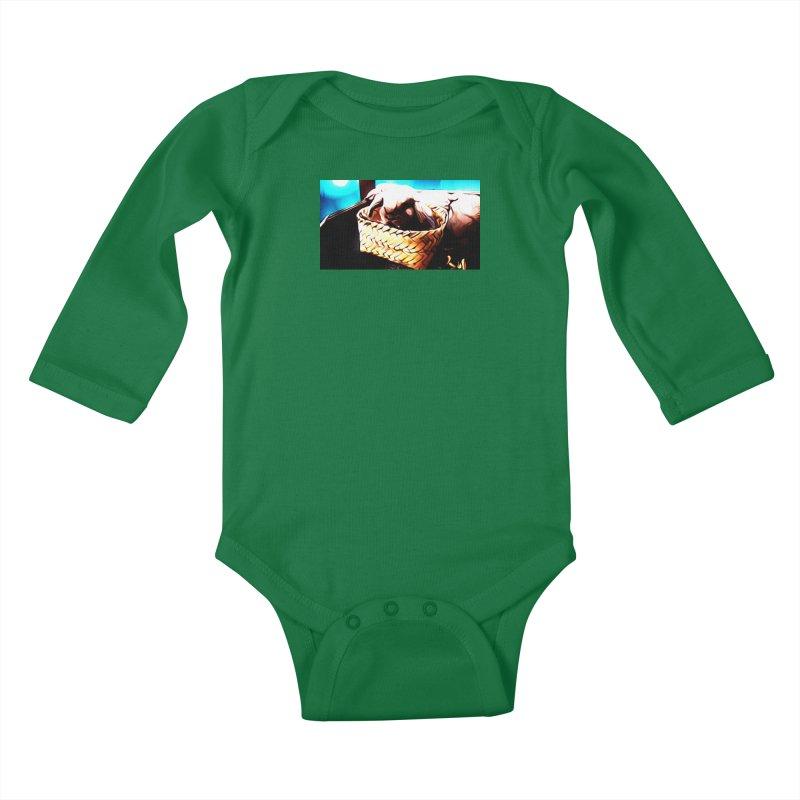 Lukisan Kelinci Holland Lop Sheno dan Rizky Kids Baby Longsleeve Bodysuit by hollandlopartwork's Artist Shop