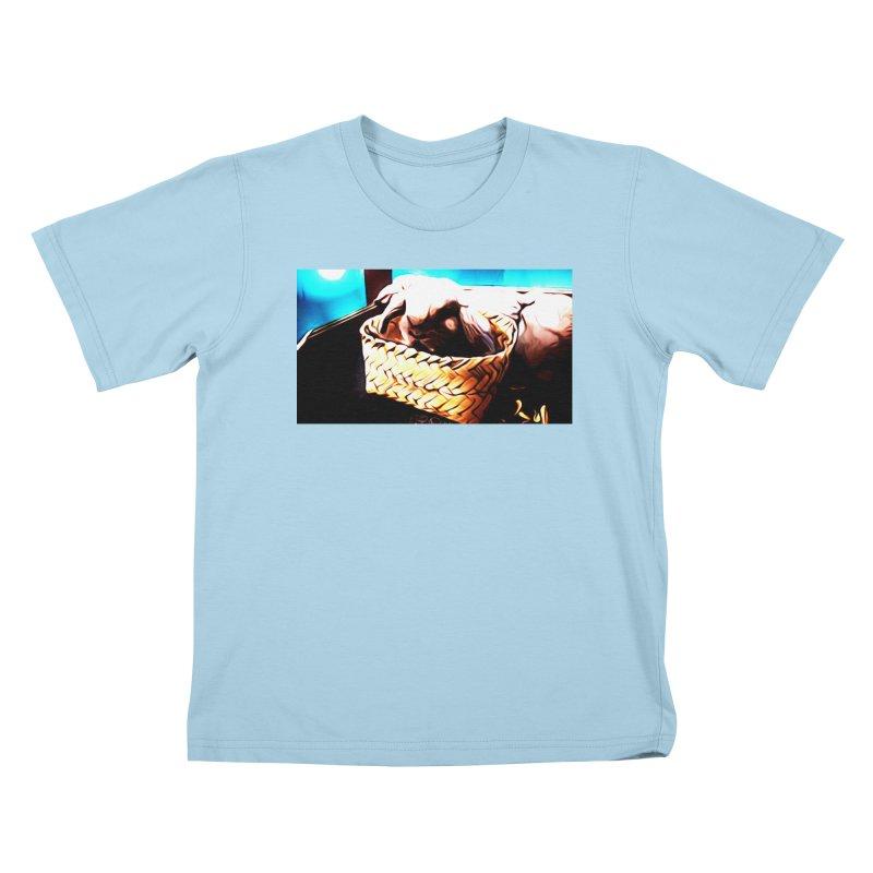 Lukisan Kelinci Holland Lop Sheno dan Rizky Kids T-Shirt by hollandlopartwork's Artist Shop