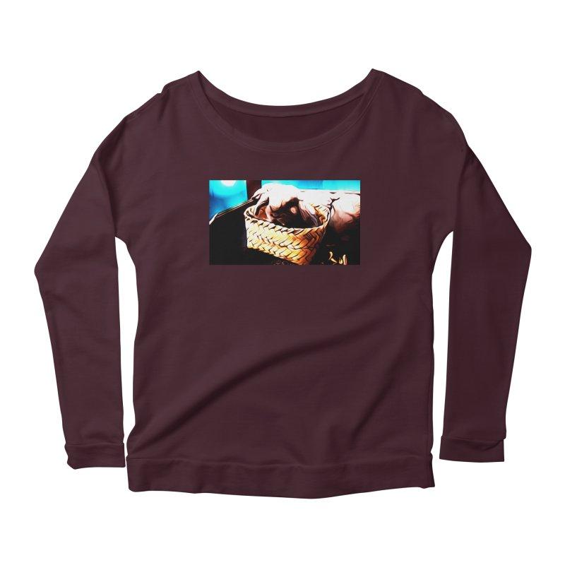 Lukisan Kelinci Holland Lop Sheno dan Rizky Women's Scoop Neck Longsleeve T-Shirt by hollandlopartwork's Artist Shop