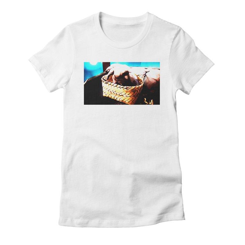 Lukisan Kelinci Holland Lop Sheno dan Rizky Women's Fitted T-Shirt by hollandlopartwork's Artist Shop