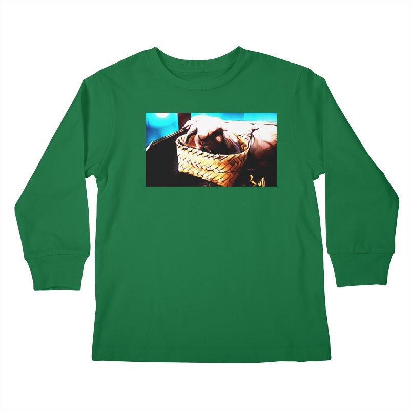 Lukisan Kelinci Holland Lop Sheno dan Rizky Kids Longsleeve T-Shirt by hollandlopartwork's Artist Shop