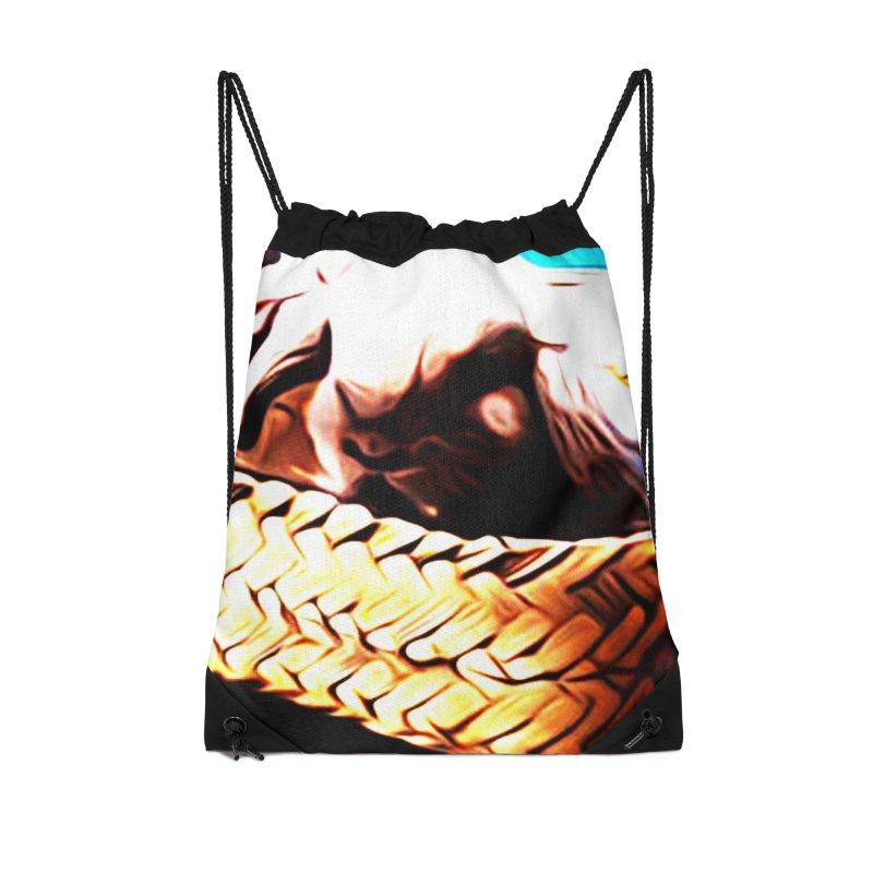 Lukisan Kelinci Holland Lop Sheno dan Rizky Accessories Drawstring Bag Bag by hollandlopartwork's Artist Shop