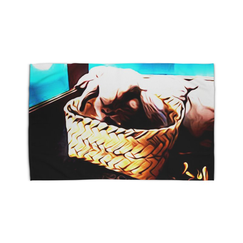 Lukisan Kelinci Holland Lop Sheno dan Rizky Home Rug by hollandlopartwork's Artist Shop