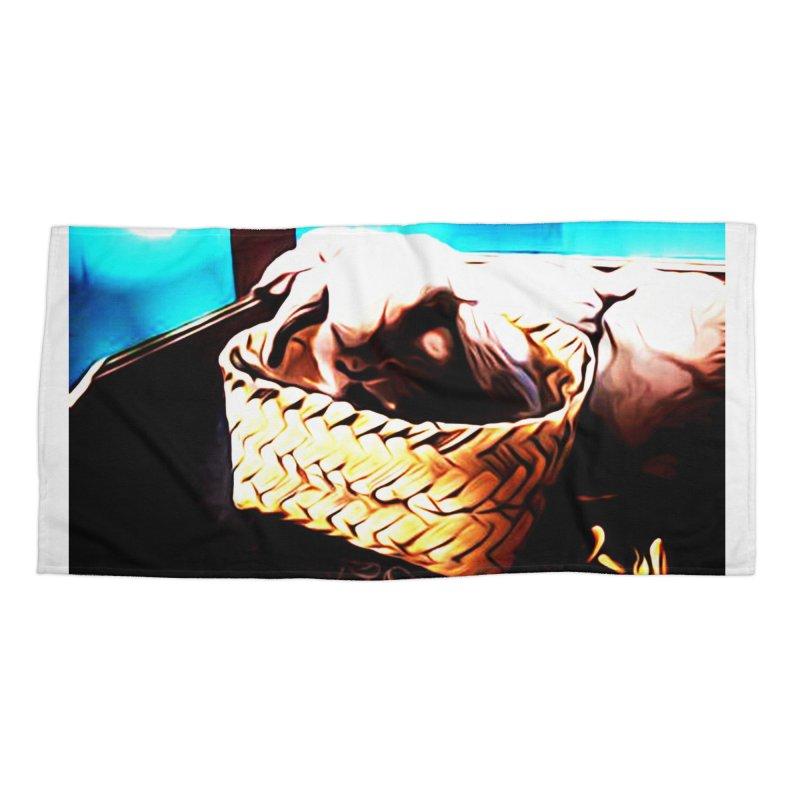 Lukisan Kelinci Holland Lop Sheno dan Rizky Accessories Beach Towel by hollandlopartwork's Artist Shop