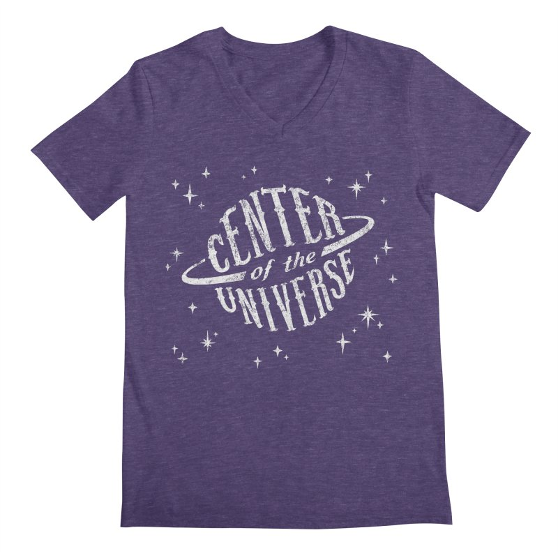 Center of the Universe Men's V-Neck by Paul Shih