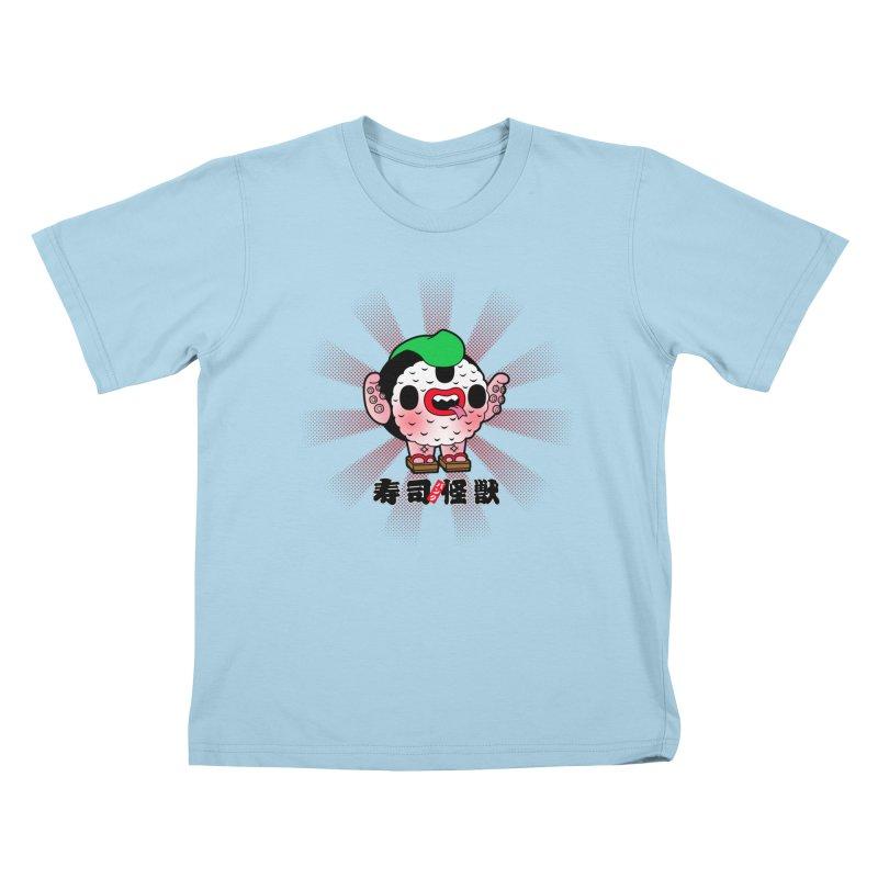 Sushi Kaiju Kids T-shirt by Paul Shih