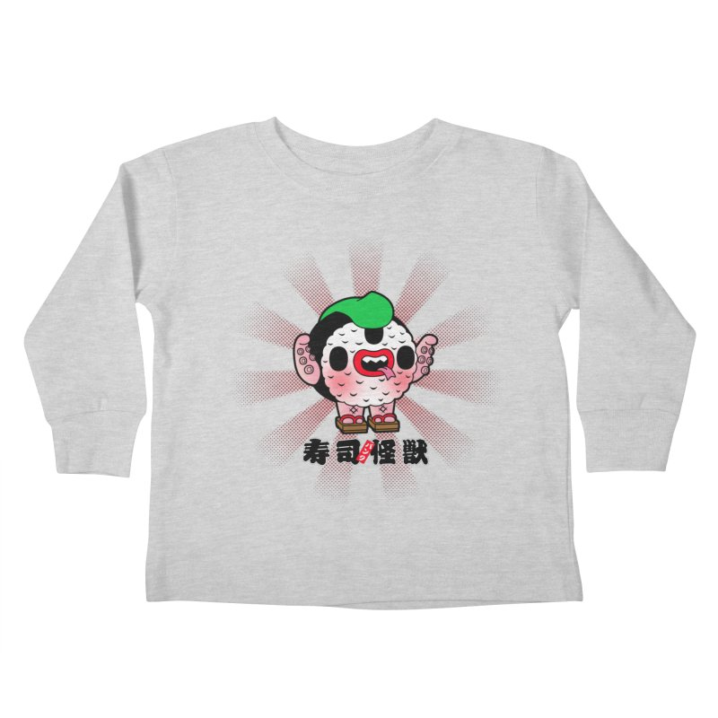 Sushi Kaiju Kids Toddler Longsleeve T-Shirt by Paul Shih