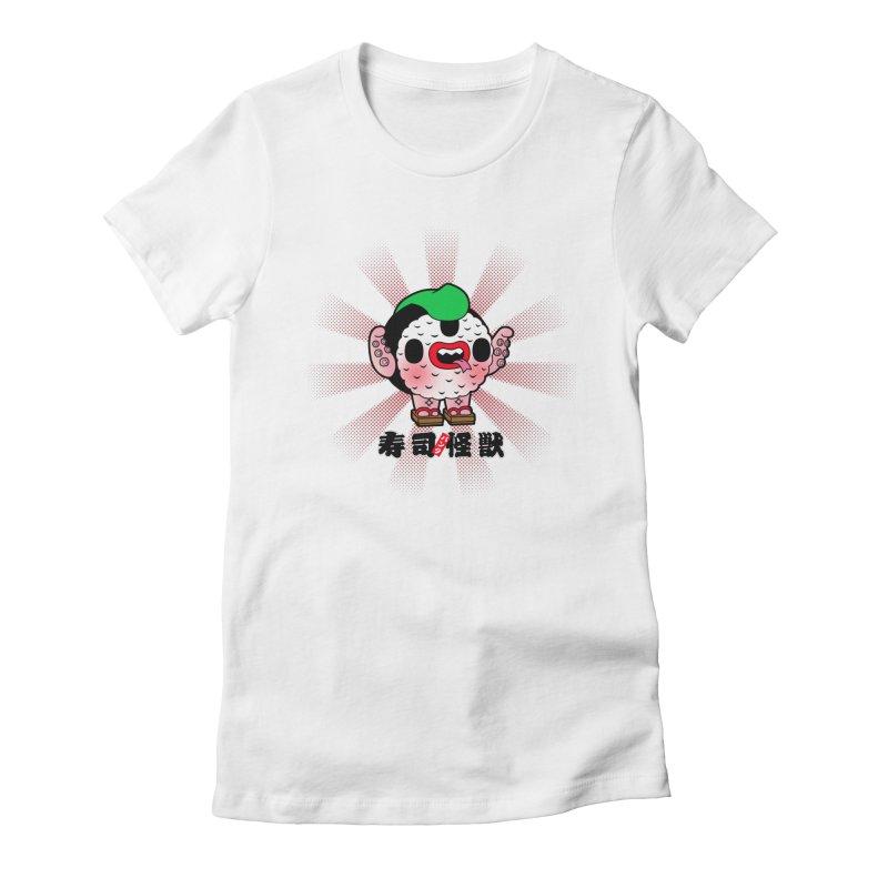 Sushi Kaiju Women's Fitted T-Shirt by Paul Shih