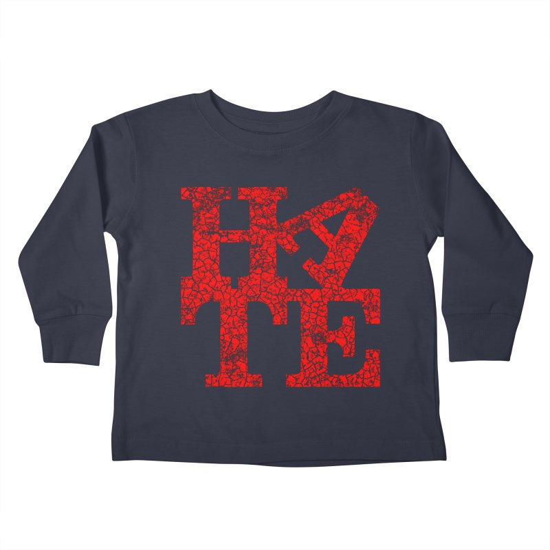 HATE Kids Toddler Longsleeve T-Shirt by Paul Shih