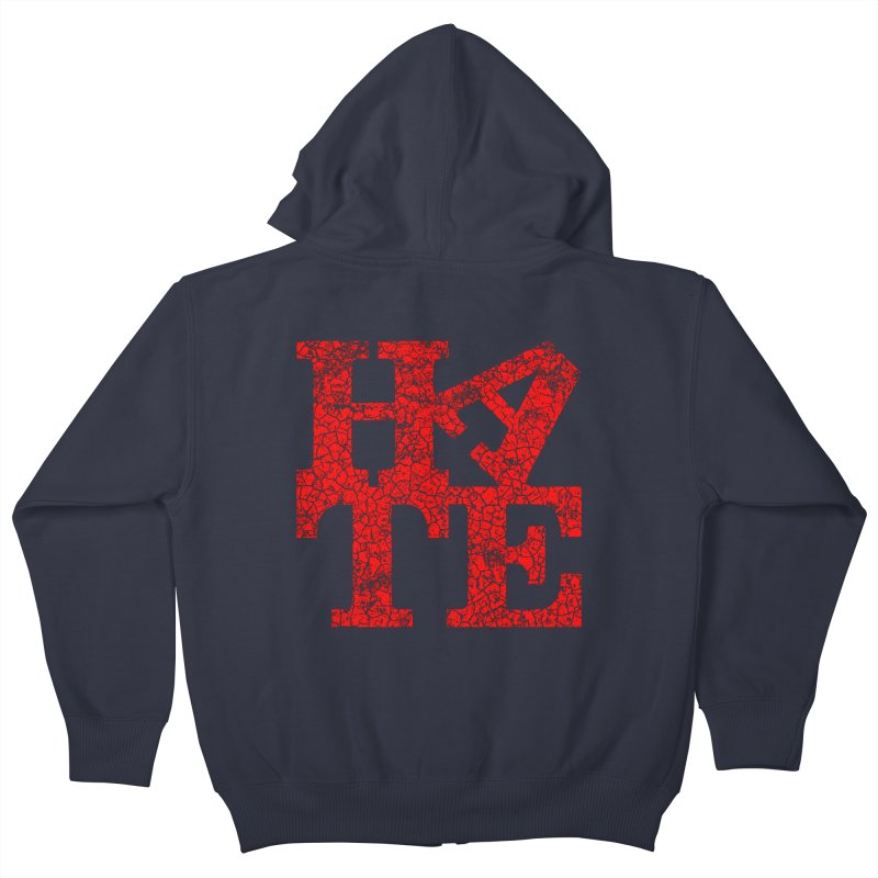 HATE Kids Zip-Up Hoody by Paul Shih