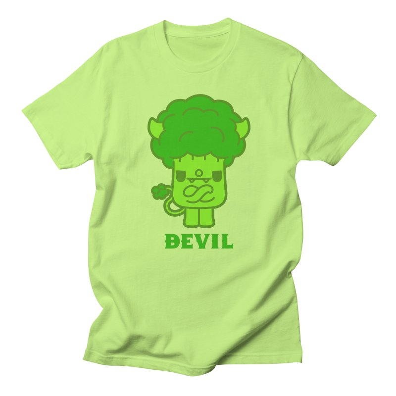 BEVIL in Men's T-Shirt Neon Green by Paul Shih