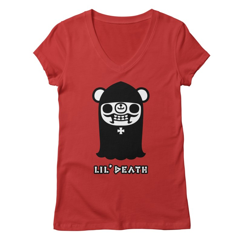 Lil' Death Women's V-Neck by Paul Shih