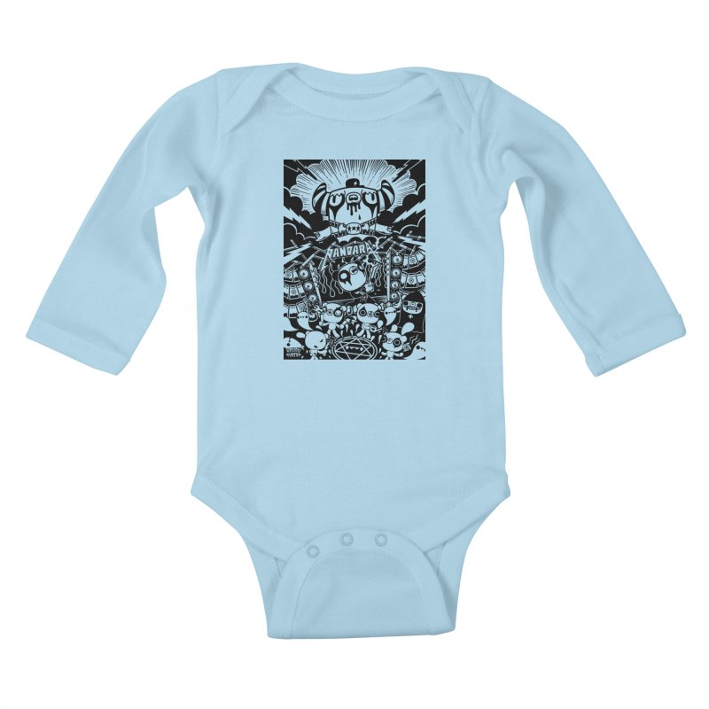 The World of Hollow Threat Kids Baby Longsleeve Bodysuit by Paul Shih