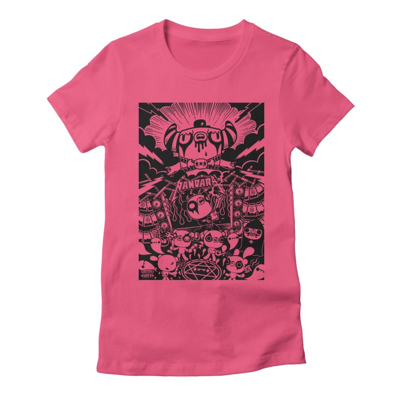 The World of Hollow Threat Women's Fitted T-Shirt by Paul Shih