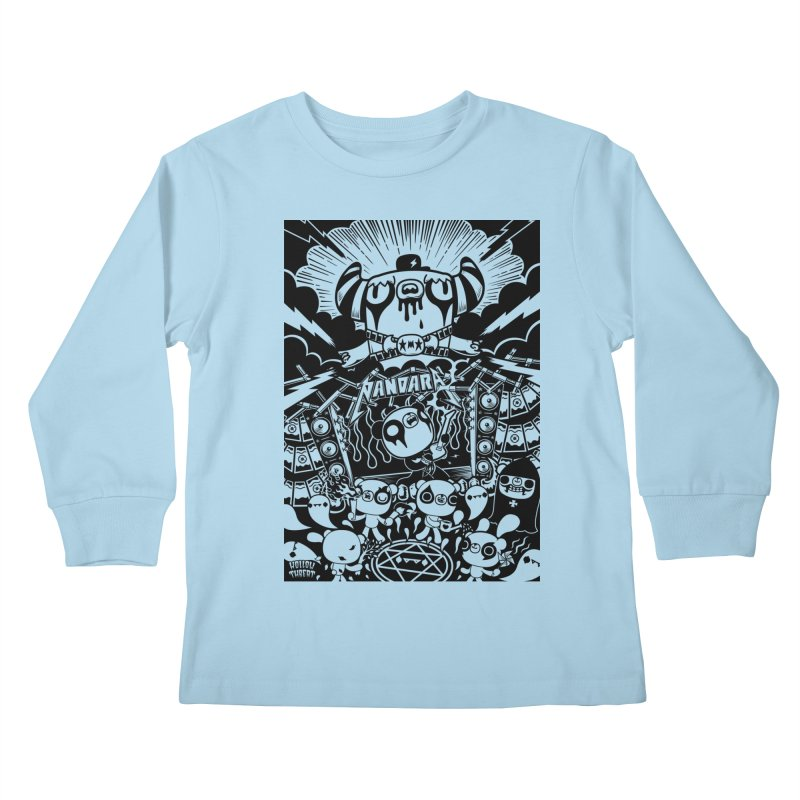 The World of Hollow Threat Kids Longsleeve T-Shirt by Paul Shih