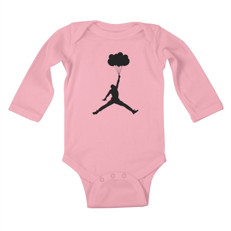 AIR MICHAEL Kids Baby Longsleeve Bodysuit by Paul Shih