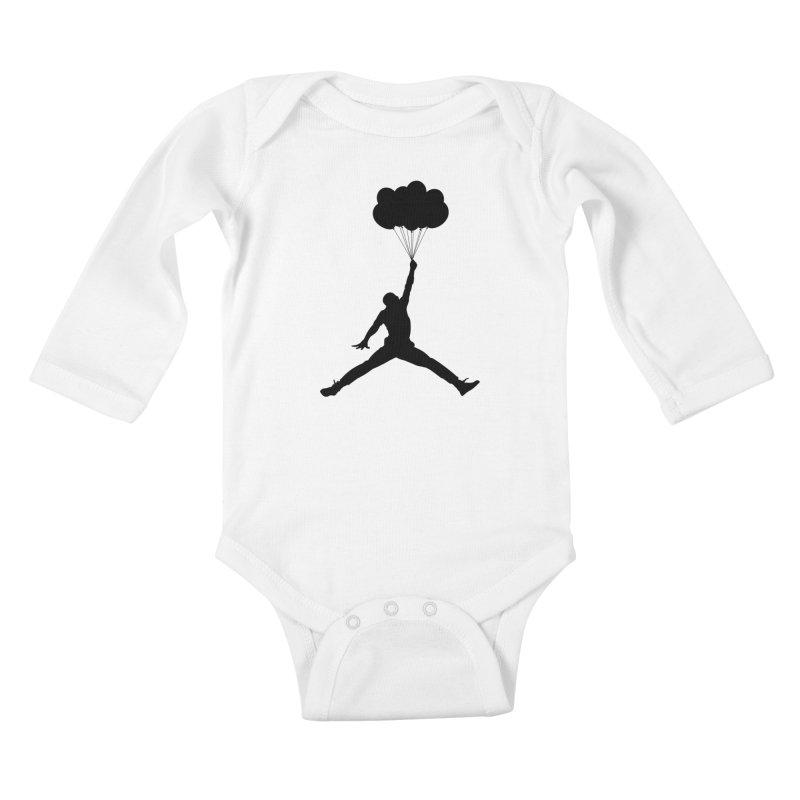 AIR MICHAEL Kids Baby Longsleeve Bodysuit by Paul Shih