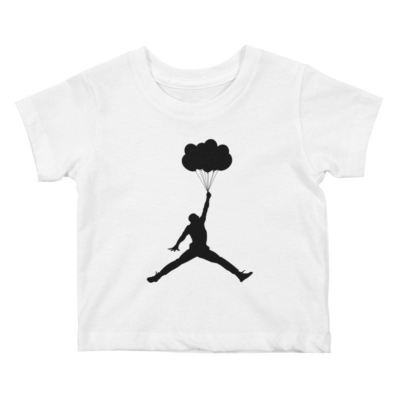 AIR MICHAEL Kids Baby T-Shirt by Paul Shih