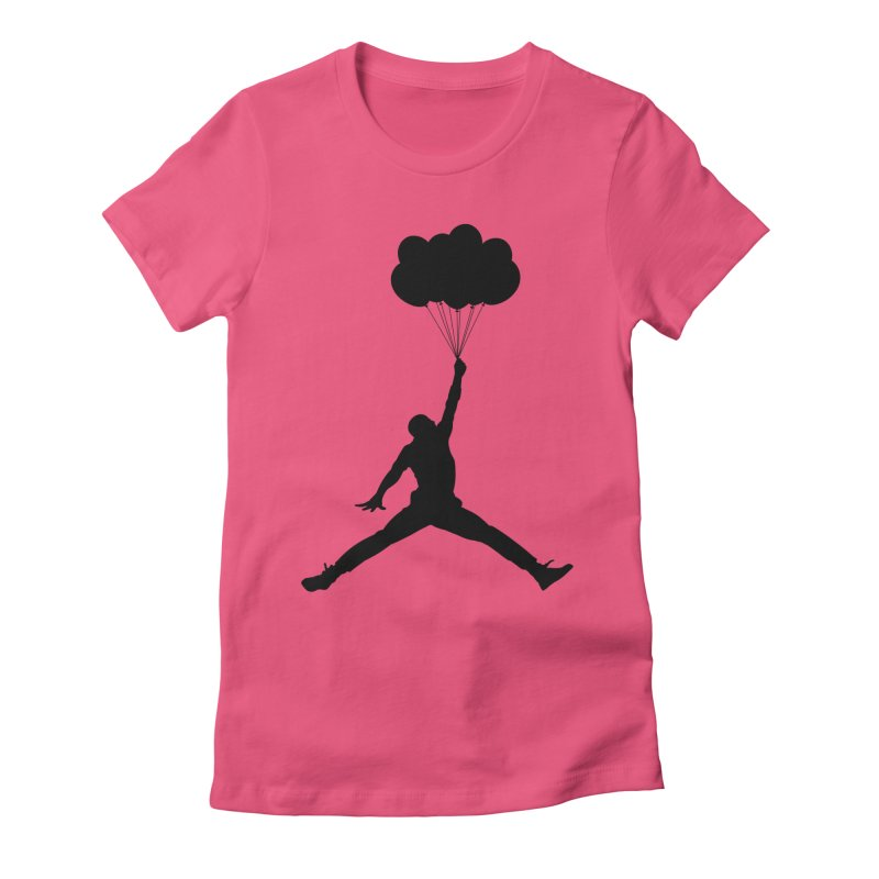 AIR MICHAEL Women's Fitted T-Shirt by Paul Shih