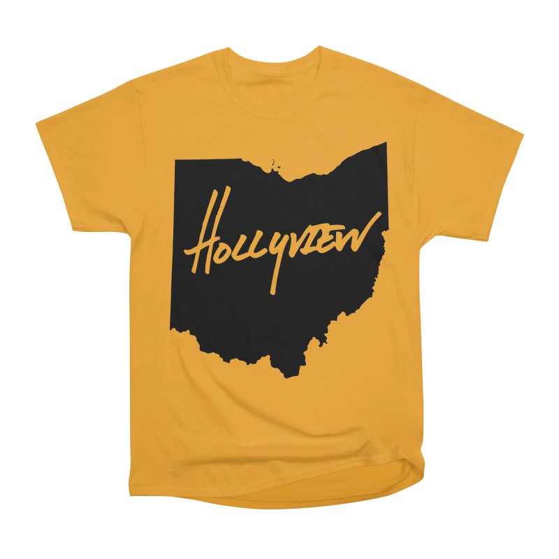 Hollyview Ohio - Black Ink Women's Heavyweight Unisex T-Shirt by hollyview's Artist Shop
