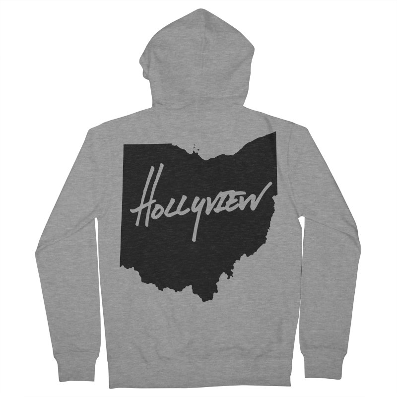 Hollyview Ohio - Black Ink Women's French Terry Zip-Up Hoody by hollyview's Artist Shop