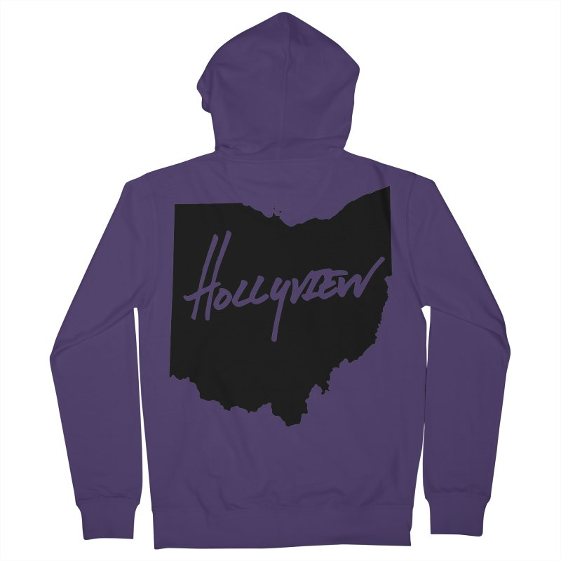 Hollyview Ohio - Black Ink Women's Zip-Up Hoody by hollyview's Artist Shop