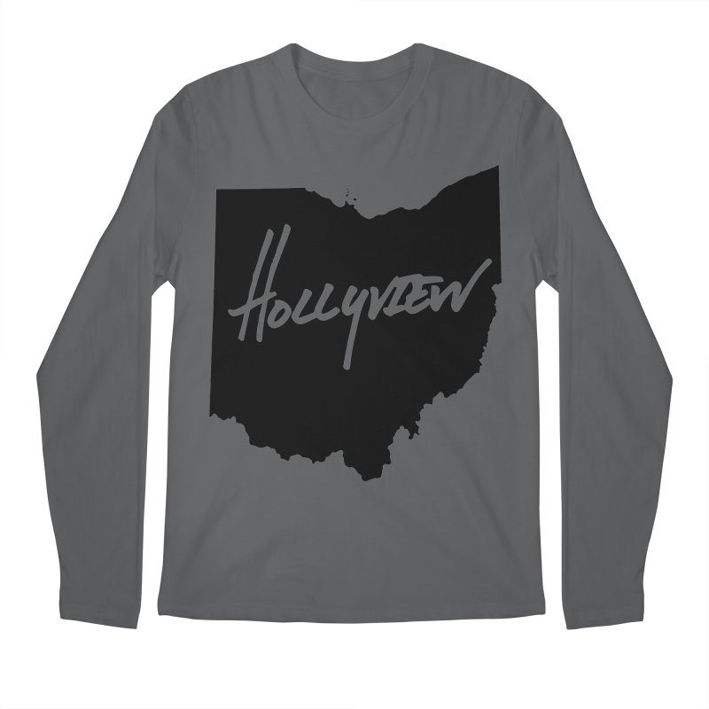 Hollyview Ohio - Black Ink Men's Longsleeve T-Shirt by hollyview's Artist Shop