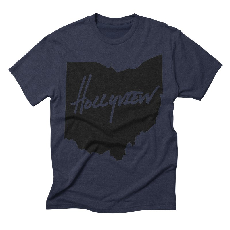 Hollyview Ohio - Black Ink Men's Triblend T-Shirt by hollyview's Artist Shop