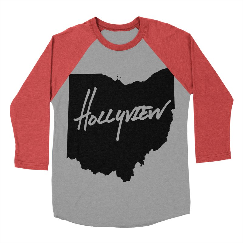 Hollyview Ohio - Black Ink Men's Baseball Triblend T-Shirt by hollyview's Artist Shop