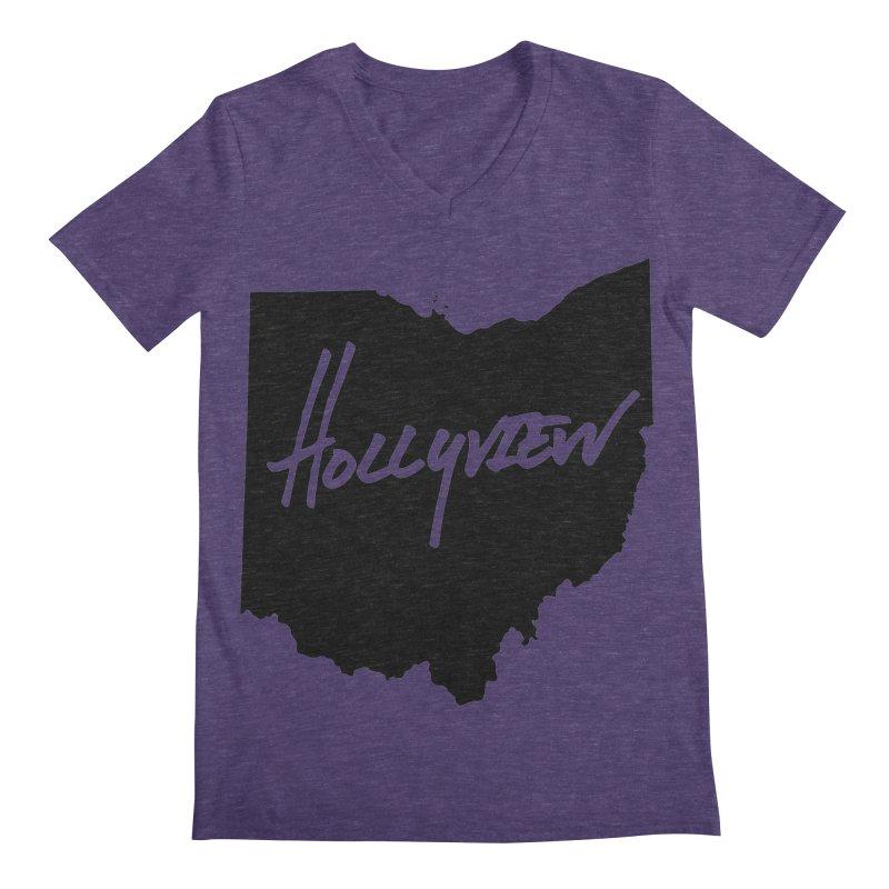 Hollyview Ohio - Black Ink Men's V-Neck by hollyview's Artist Shop