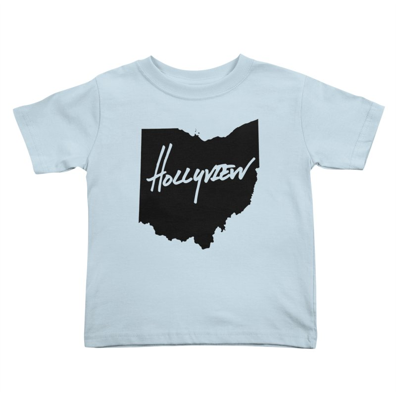 Hollyview Ohio - Black Ink Kids Toddler T-Shirt by hollyview's Artist Shop
