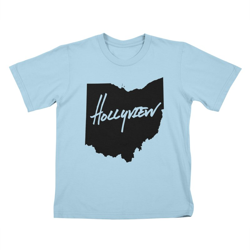 Hollyview Ohio - Black Ink Kids T-Shirt by hollyview's Artist Shop
