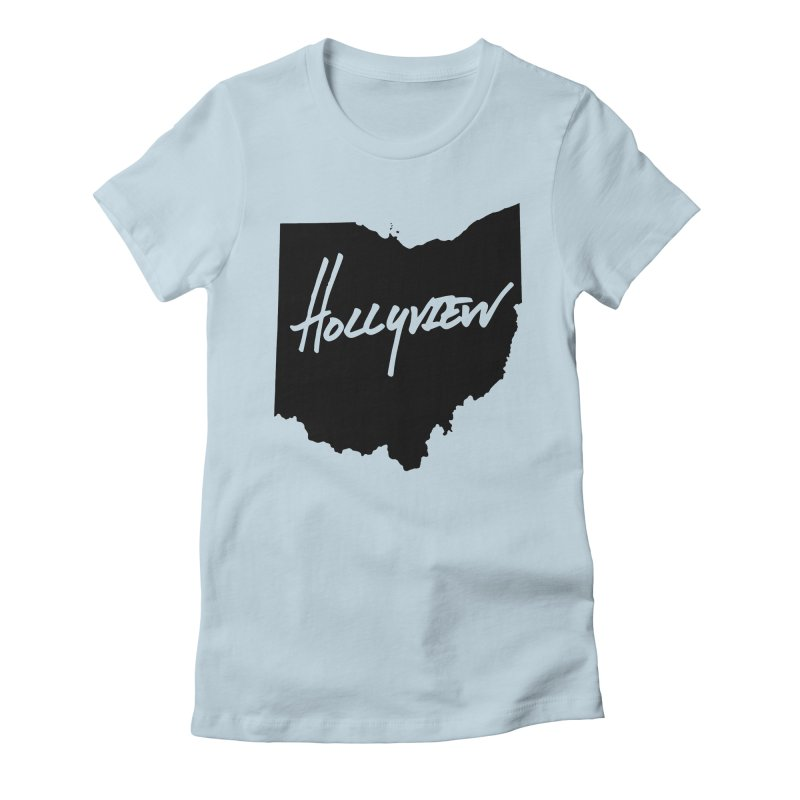 Hollyview Ohio - Black Ink Women's Fitted T-Shirt by hollyview's Artist Shop