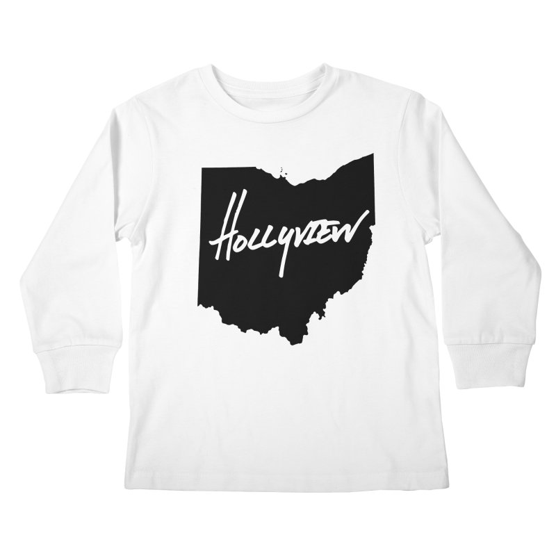 Hollyview Ohio - Black Ink Kids Longsleeve T-Shirt by hollyview's Artist Shop