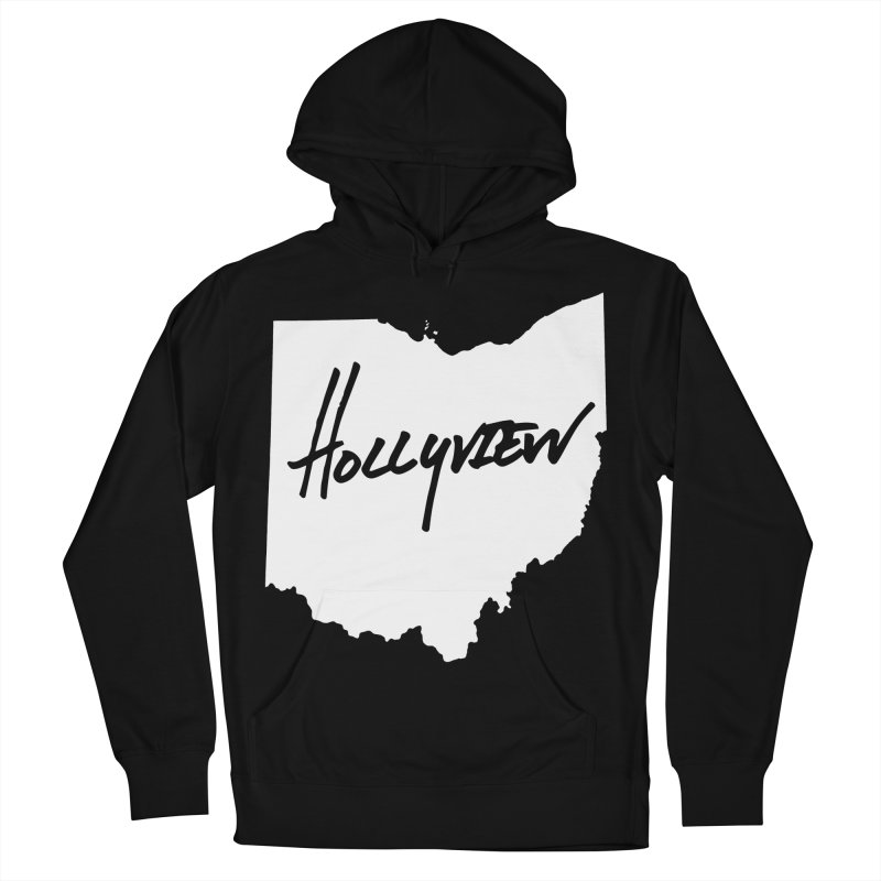 Hollyview Ohio - White Ink Men's French Terry Pullover Hoody by hollyview's Artist Shop