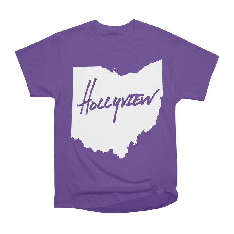 Hollyview Ohio - White Ink Women's Heavyweight Unisex T-Shirt by hollyview's Artist Shop